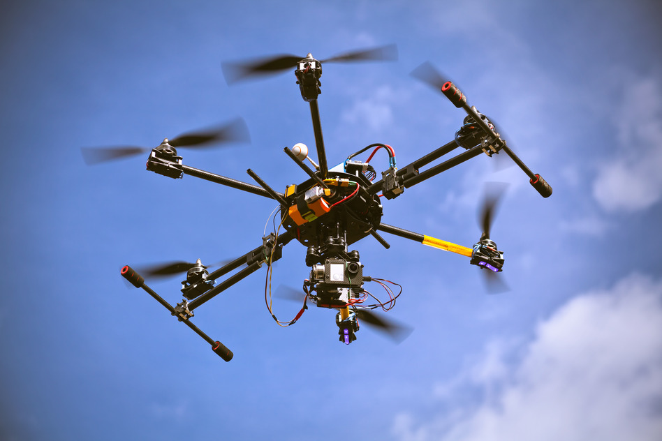video drone footage
