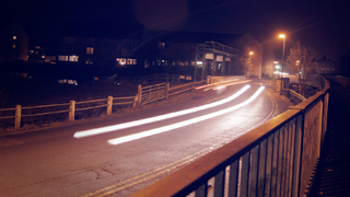 Time lapse street night
